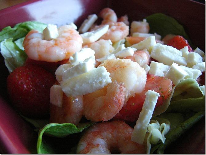 salade scampis feta