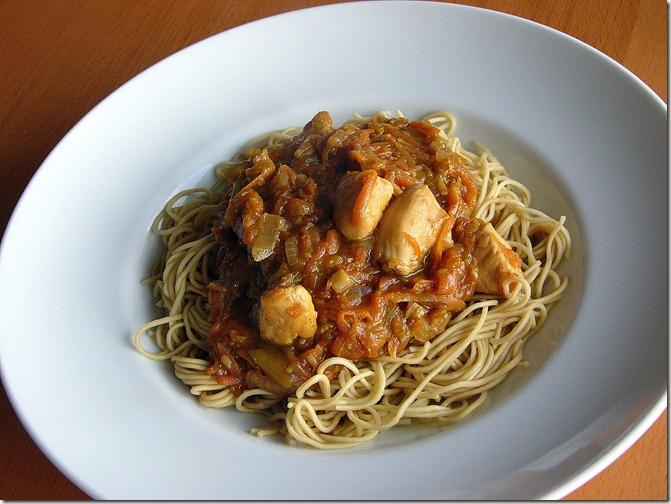 wok poulet