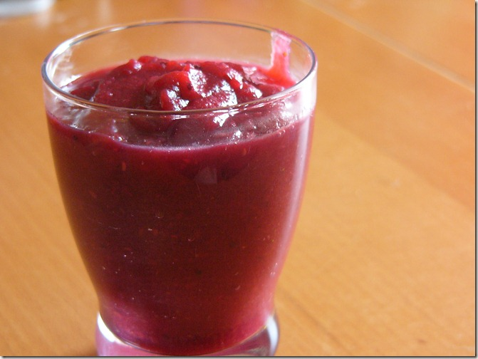 compote pomme fruits rouge