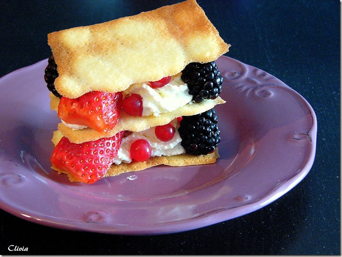 mille-feuilles fruits rouges