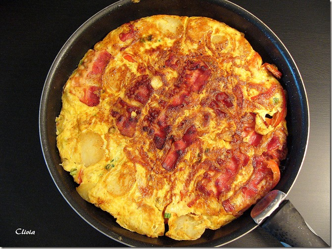 tortilla poivron bacon