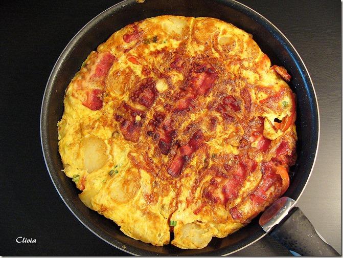 tortilla poivron bacon