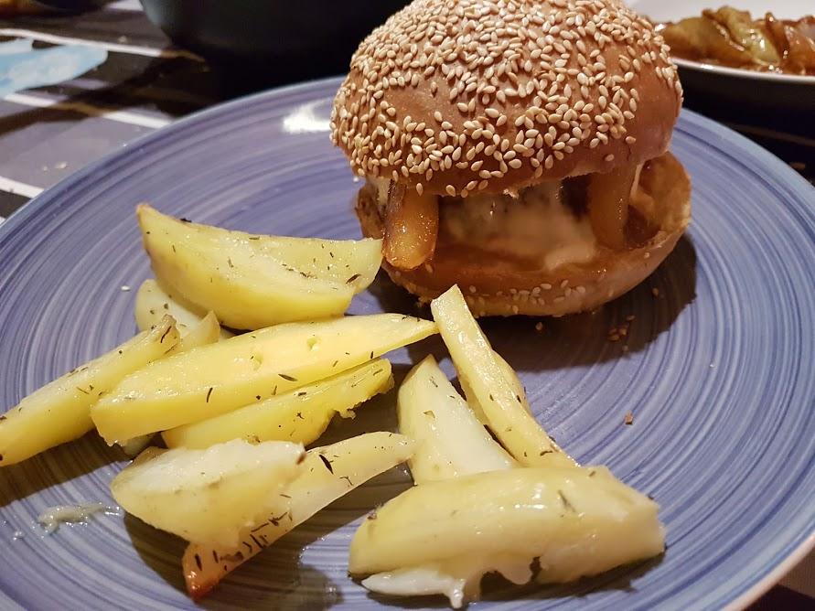 burger veau poires
